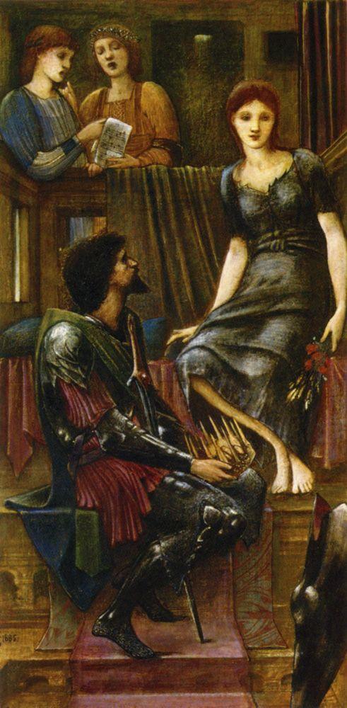 Edward Burne-Jones (Edward Burne Jones): King Cophetua and the Beggar Maid - Study