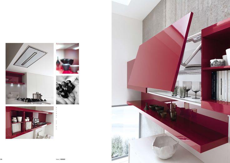 Pops of brilliant colour add a festive flavor to this kitchen.