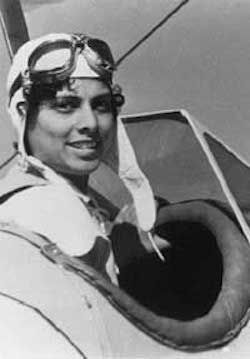 Willa Brown, American Aviator. She was the first African-American to obtain a commercial pilot's license in 1937. In 1939 with her husband founded the Correlius Coffy School of Aeronautics, the first Black owned private flight academy. In 1941 Willa became the first African-American officer in the Civil Air Patrol. In 1943 she became the first woman to earn both a commercial pilot's license and a mechanic's license.