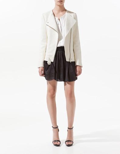 ZARA: Studios Jackets, White Leather Jackets, Jackets Zara, Creamy Leather, Leather Studios, Blazers, Zealand Leather, Leather Biker Jackets, Jackets Studios