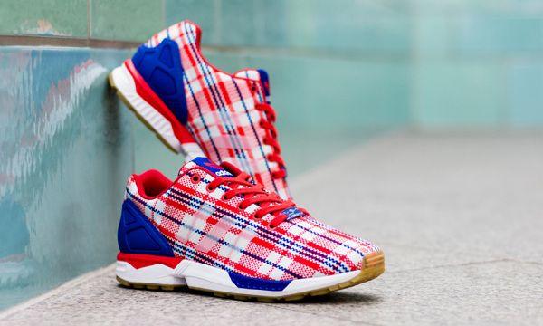 "CLOT x adidas Consortium ZX Flux ""Red, White, Blue"""