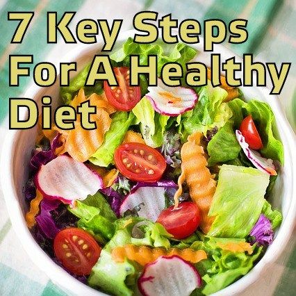 7 fundamental steps for a healthy diet
