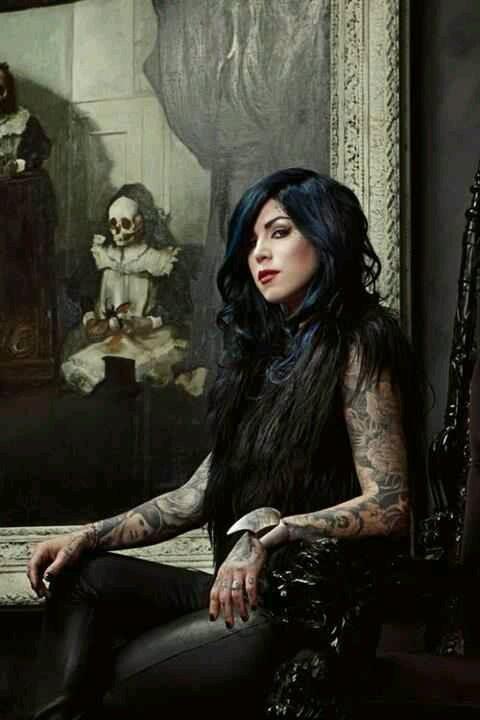 #Kat von d#blue black haircolor