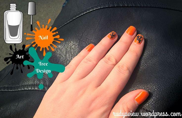 Nail Art Tree Design