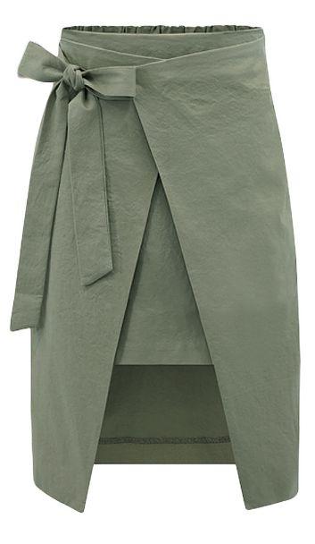 layered wrap skirt