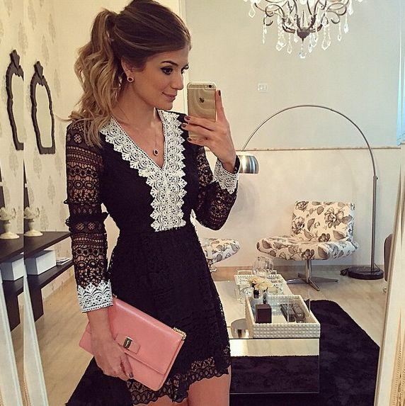 Fabric: Lace Colour: Black Size: S, M, L, XL