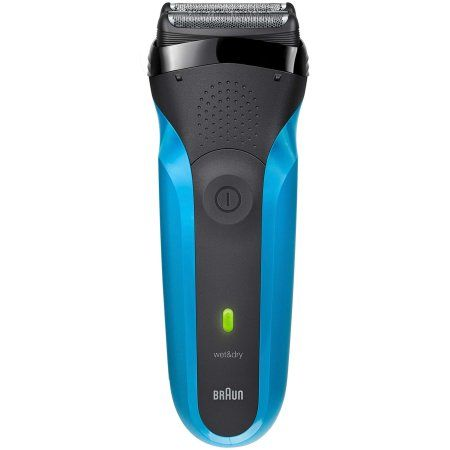 Braun Series ($10 Rebate Available) 3 310s Wet and Dry Electric Rechargeable Shaver for Men, Blue, 4 Pc