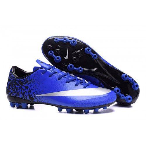 2016 Nike Mercurial Victory V CR7 AG Mens Soccer Shoes - Blue Black White,  Free