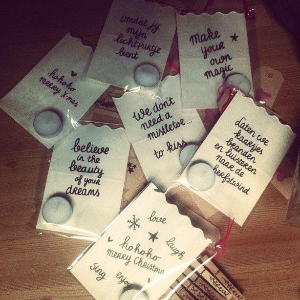 #bedankje #waxinelichtje #miniboodschap
