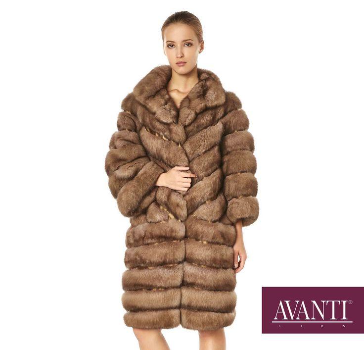 AVANTI FURS - MODEL: BOZENA SABLE JACKET with textile details #avantifurs #fur #fashion #fox #luxury #musthave #мех #шуба #стиль #норка #зима #красота #мода #topfurexperts