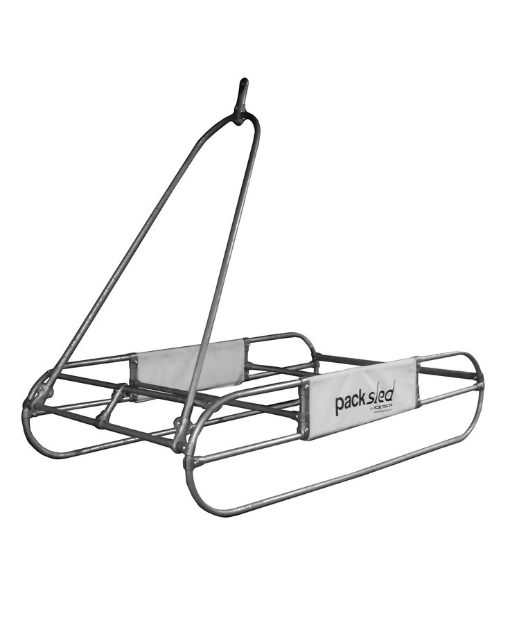 The pack sled the original pull behind ice fishing ice for Ice fishing sled ideas