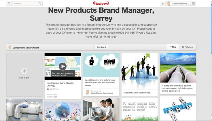 We use pinterest boards to create more visual job ads.