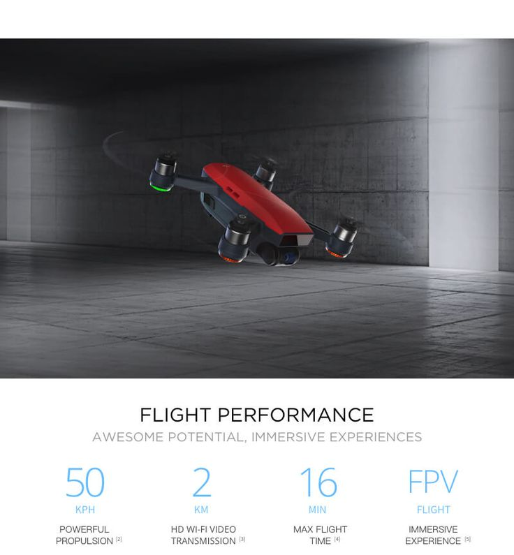 DJI Spark, a mini drone that features all of DJI's signature technologies, allowing you to seize the moment whenever you feel inspired. With intelligent flight control options, a mechanical gimbal, and a camera with incredible image quality, Spark empowers you to push your creative boundaries.