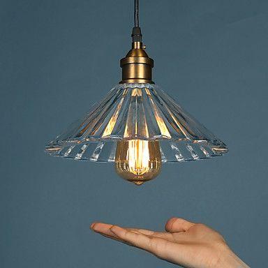 E27 220v 2517cm 10 15㎡retro nostalgia single head coffee glass chimney droplight light led