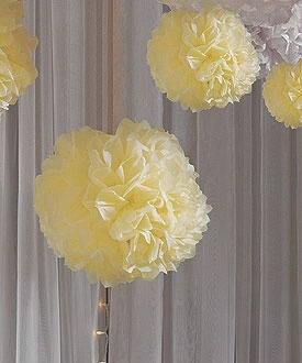 These tissue paper peonies make me think of Preston Bailey's fabulous decor as low as $18.38, paper wedding decorations, reception decorations