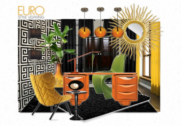 Lighting with Euro Style at the loft corner  by irafra | Olioboard #orange
