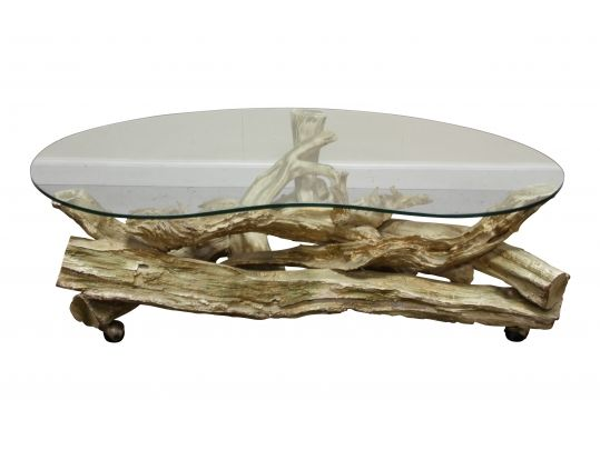 Driftwood glass coffee table s driftwood coffee table for White driftwood coffee table