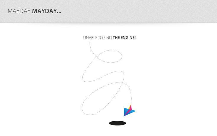 404 page of Smashy Design