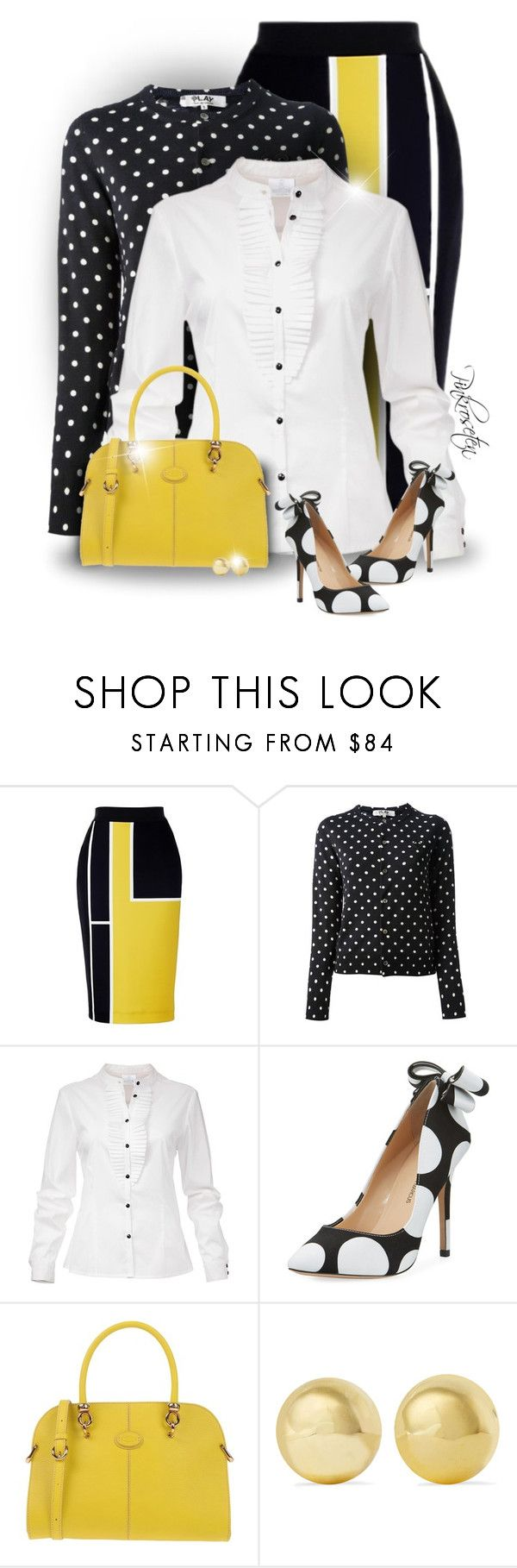 Polka Dots by pinkroseten on Polyvore featuring Play Comme des Garçons, Neiman Marcus, Tod's and Kenneth Jay Lane