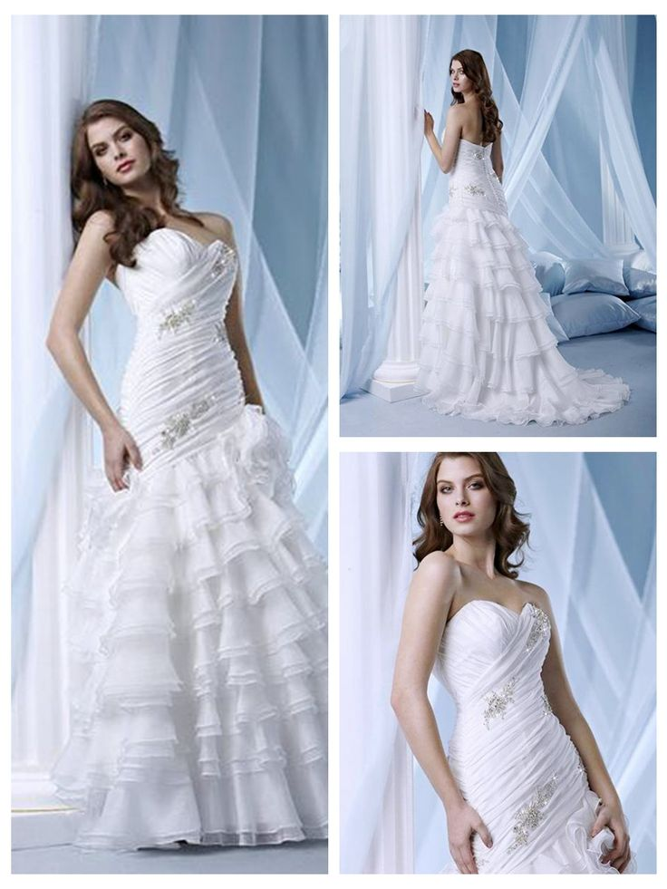 New Hot sale Sweetheart wrinkle Design Multi-layer Embroider Rhinestone A-line bridal dress
