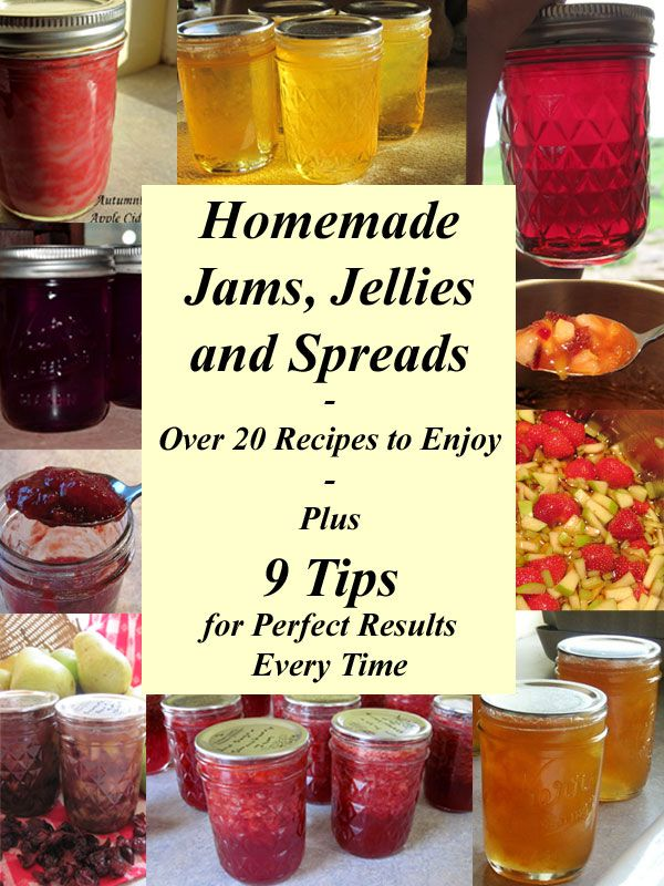 Homemade Jams, Jellies and Spreads - Over 20 Recipes to Enjoy - Plus 9 Tips for Perfect Results Every Time - Traditional, Low Sugar, No Added Sugar & Pectin