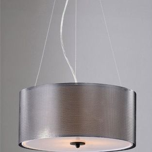 None - Margerat Amber Black 3-light Pendant Chandelier - A modern, streamlined design with industrial influences, this pendant ceiling light...