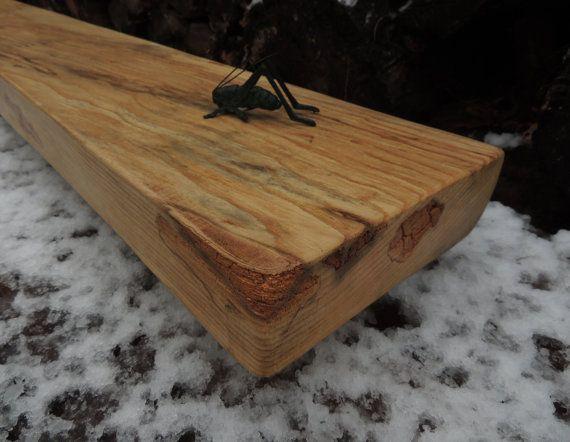 Reclaimed Wood Mantel  Rustic Live Edge Maple by Harvestbilt