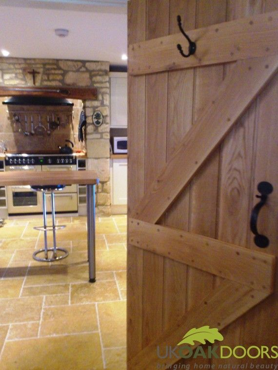 Solid Oak Ledge and Brace Door