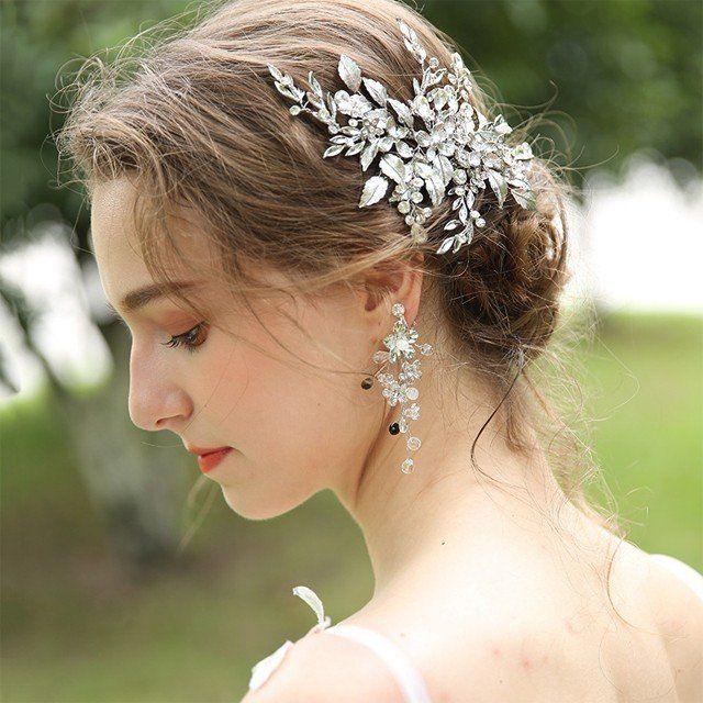 ヘッドアクセサリー ヘッドドレス ウェディング 花 フラワー リーフ