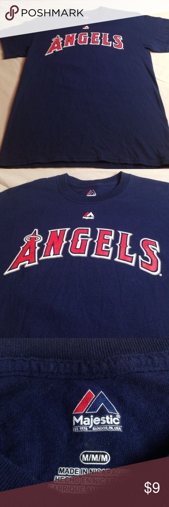 ANGELS BASEBALL TEAM # 27 TROUT TOP TEE EXCELLENT ANGELS BASEBALL TEAM # 27 TROUT TOP TEE EXCELLENT CONDITION Size M MEN Majestic Shirts Tees - Short Sleeve