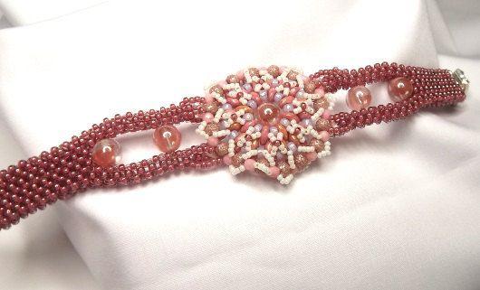 FREE SHIPPING Vintage pink bracelet graduation by Mamyblue on Etsy, $65.00