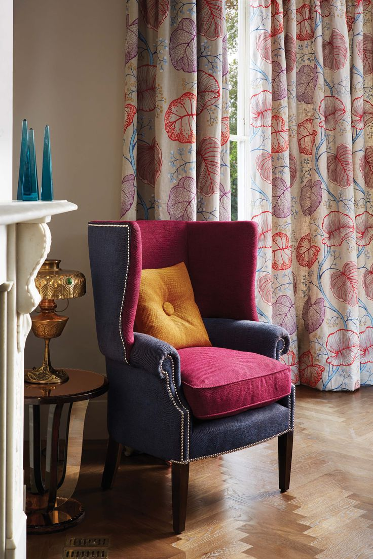 Chandor Java fabric - Lorca at @osbornelittle - available from Rodgers of York #interiors #curtains
