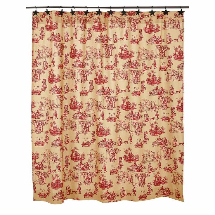 Elaine Rouge Shower Curtain 72x72