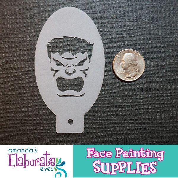 TIZIO arrabbiato - Face pittura Stencil (Mini) di ElaborateEyes su Etsy https://www.etsy.com/it/listing/252391909/tizio-arrabbiato-face-pittura-stencil