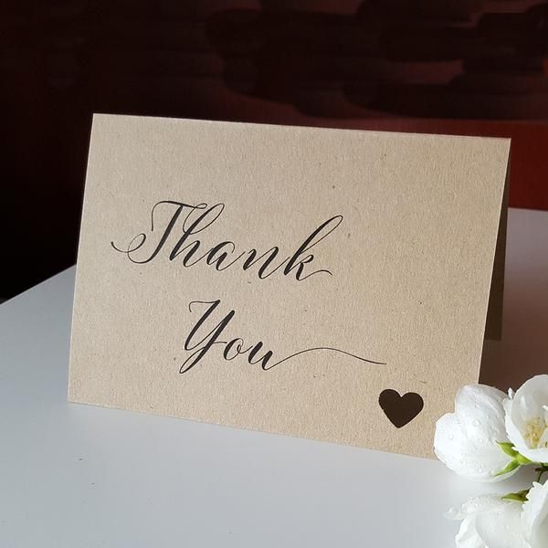 Peephole Heart - thank you card