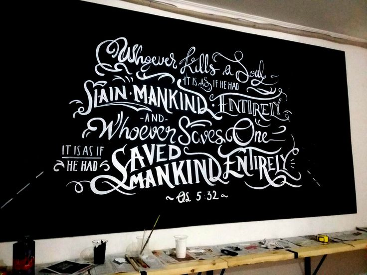Mural Kantor, Mural Tipografi, Tipografi, Jasa Lukis Dinding-Mural by iMural