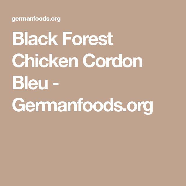 Black Forest Chicken Cordon Bleu - Germanfoods.org