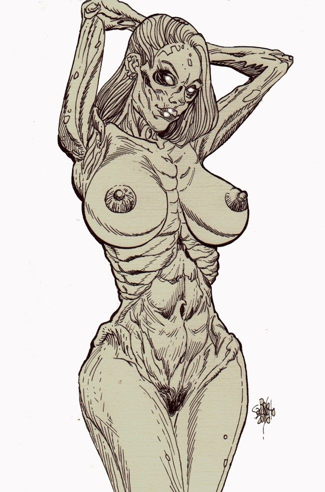 Zombie Art : Nude Pinup #248