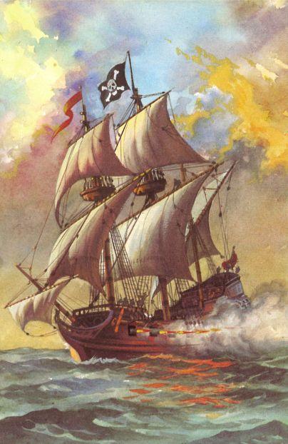 Captain la Bouche's Ship- Pirates. Author: Lawrence du Garde Peach Illustrator: Frank Humphris (1970)