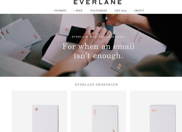 Clear, Simple. Love Everlane.