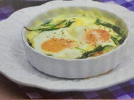 Αυγά με φέτα και σπανάκι ( 3 μονάδες)