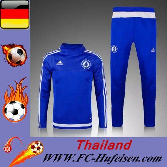 Schönsten Klassiker Trainingsanzüge Fussball Herren Kits Chelsea Blau Seson 2015 2016 -02 Shop Online Kaufen