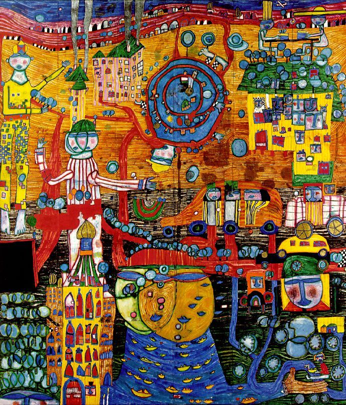 Friedensreich Hundertwasser Paintings