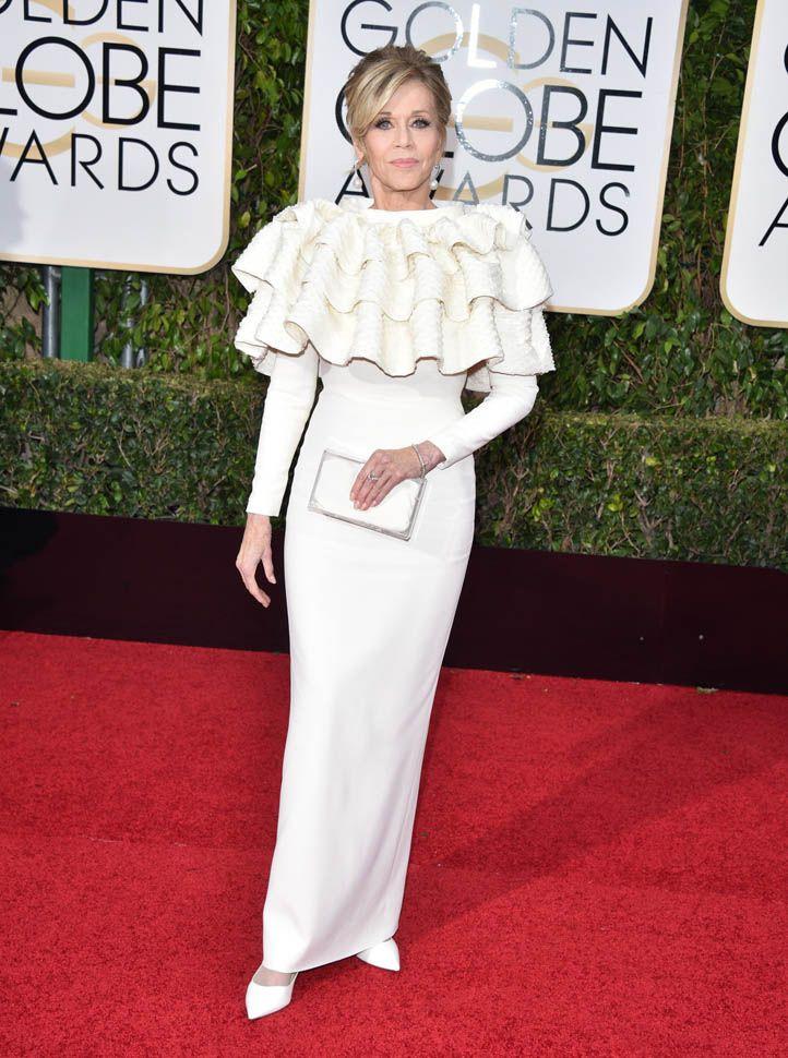 Jane Fonda in Saint Laurent - 2016 Golden Globes