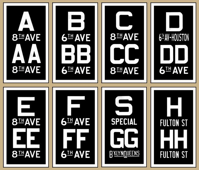 Gallery For > Subway New York Sign