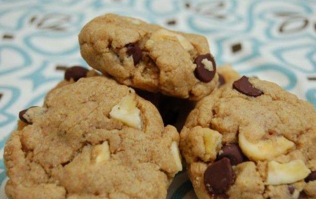 Μπισκότα με μπανάνα και σοκολάτα