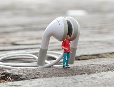 "Slinkachu became famous for his ""little people"" project where he installed miniature models at various locations in London thereby creating a type of mini scenery."