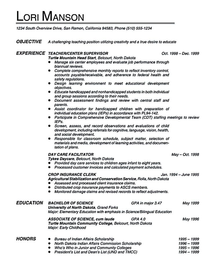 Teacher resume emphasizes the way an employee will be
