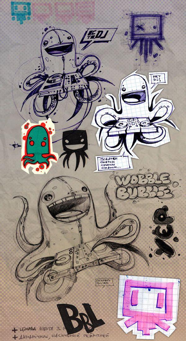 Octopus DJ by Artem Solop, via Behance