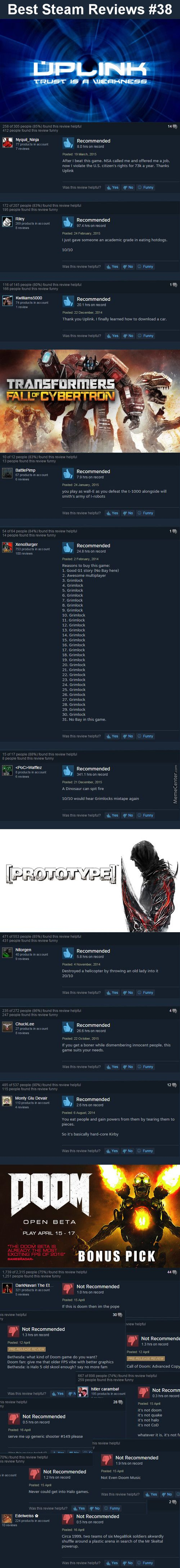 Best Steam Reviews #38 - Told You Shadow Warrior 2 Would Be The Better Game!     #Meme #FunnyMeme